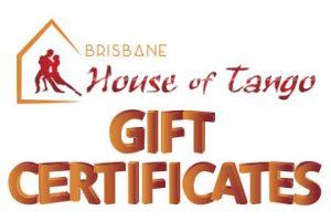 Brisbane Tango Gift Certificates
